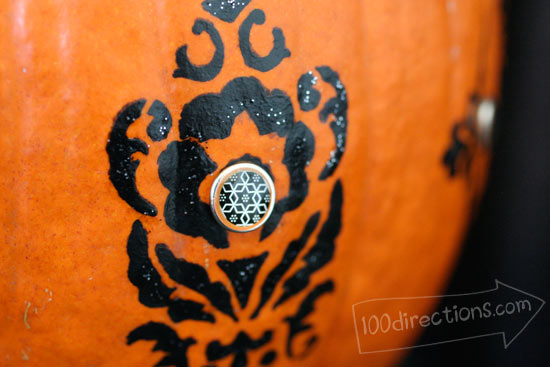 stenciled pumpkin