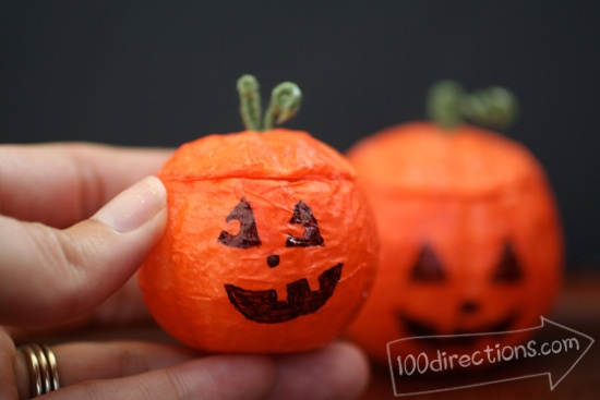 Cute and tiny Jack-o-Lantern