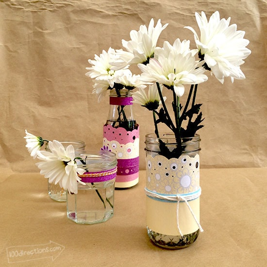 Make Pretty Spring Vases with Free Printable Art by Jen Goode