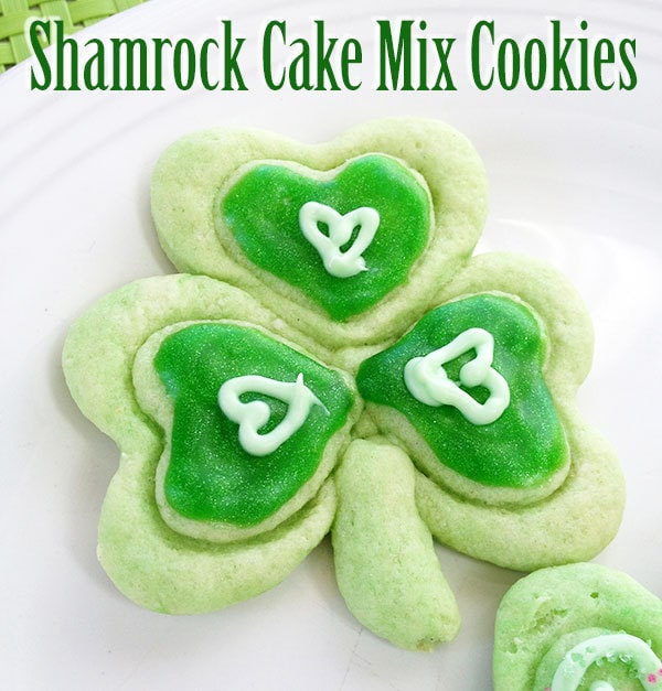 Cake Mix Cookie Shamrocks