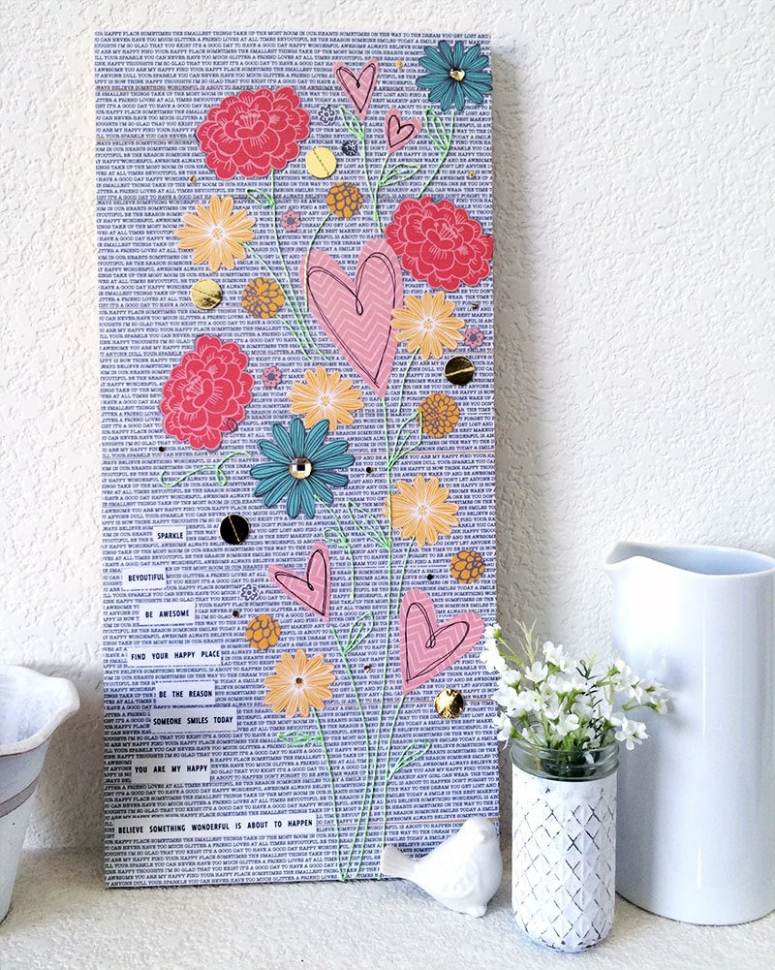 Collage Art Featuring Jen Hadfield Homemade paper collection designed by Jen Goode