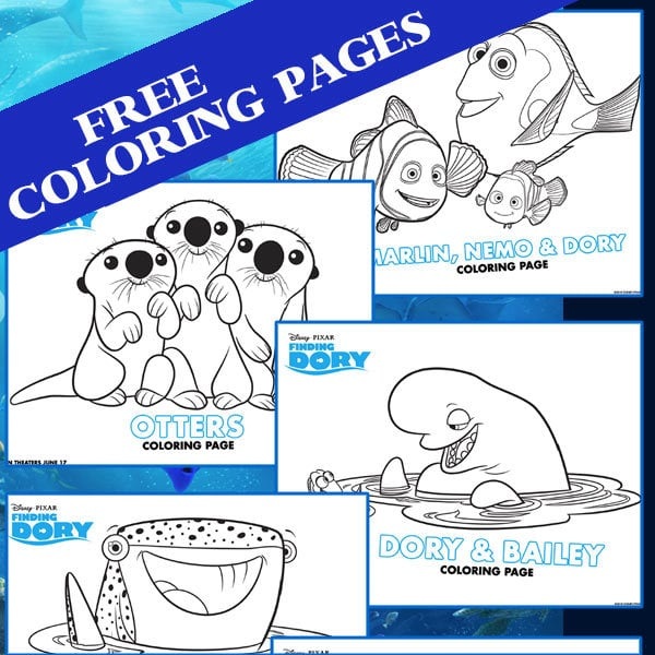 Finding Dory Coloring Pages 100 Directions