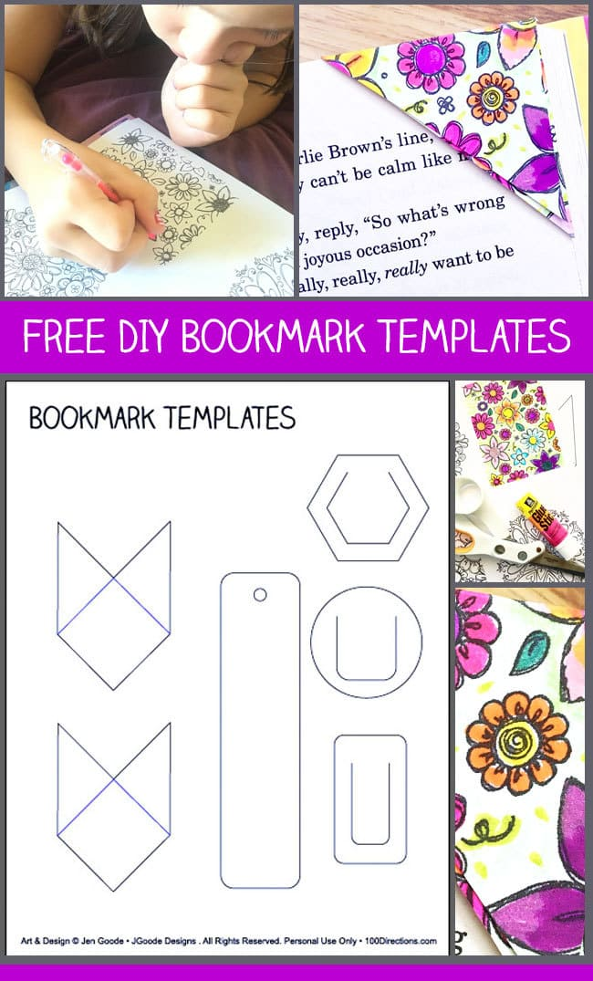 Free Paper Bookmark Template - 100 Directions
