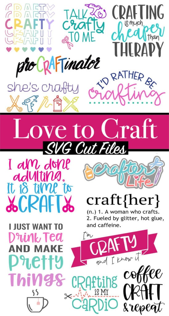 Download Crafter Life Word Art SVG Cut Files - 100 Directions
