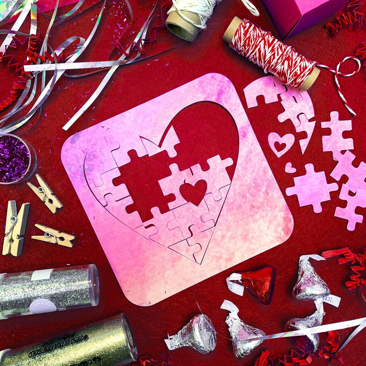 Diy Piece Of My Heart Puzzle And Valentines Cut Files
