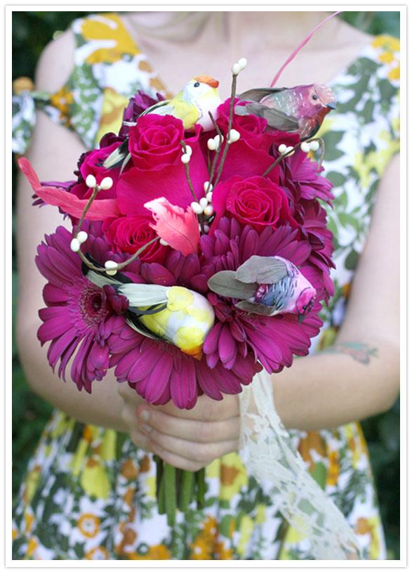 A Beautiful Mess wedding bouquet