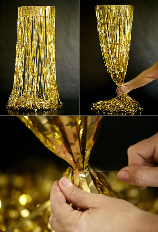 Diy Gold Fringe Chandelier