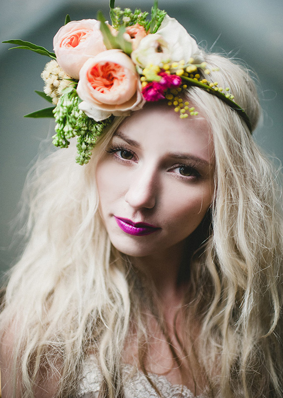 Floral Headpieces Wedding Inspiration 100 Layer Cake