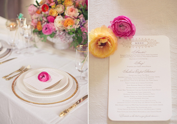 ranunculus place setting | photo by This Love of Yours | 100 Layer Cake