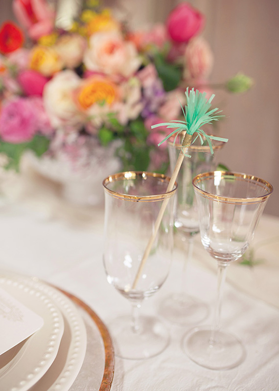 Fringe cocktail stirrer | photo by This Love of Yours | 100 Layer Cake