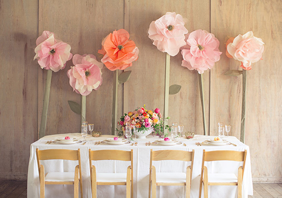 Oversized tissue paper flowers | photo by This Love of Yours | 100 Layer Cake