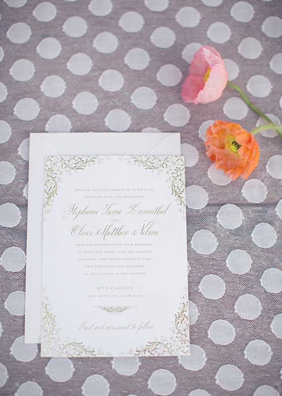 Dauphine Press wedding invitations | photo by This Love of Yours | 100 Layer Cake