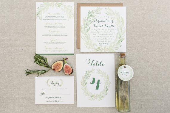 Hand Lettered Invitations Photo By Starfish Studios Http Ruffledblog Com Tuscany Inspired Wedding