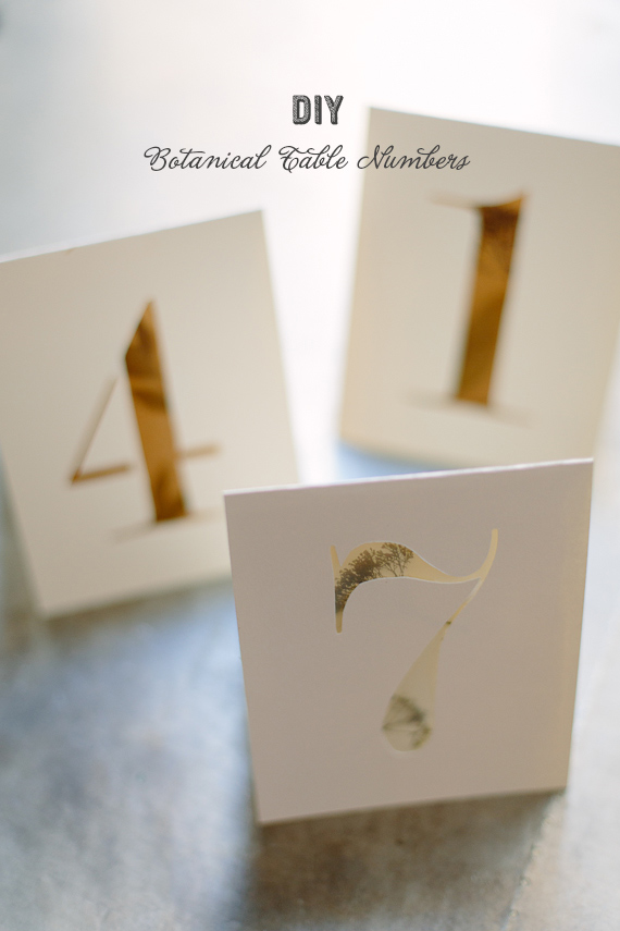 diy botanical table numbers | photo by Apryl Ann Photography | 100 Layer Cake