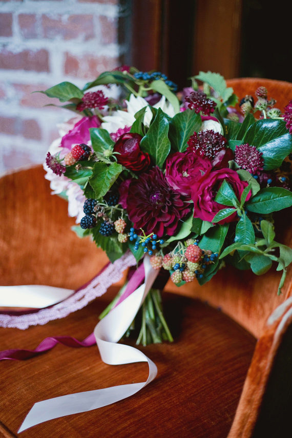 Fall Berry Wedding Inspiration At The Carondelet House