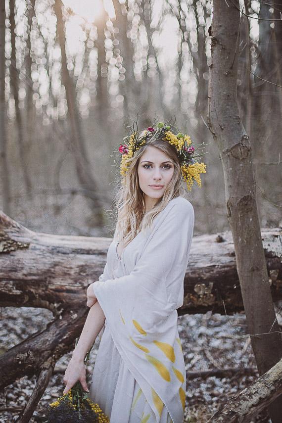 Bohemian Fall Wedding Portraits Boho Bridal Fashion