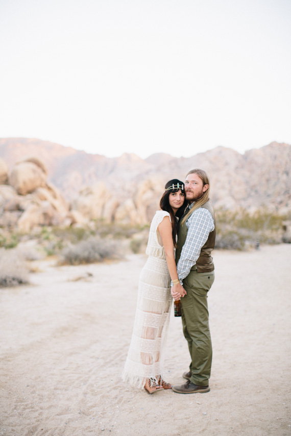 Intimate 29 Palms Wedding Bohemian Desert Wedding 100