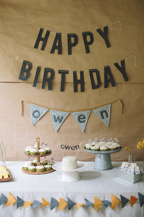 Simple Rustic Boys 1st Birthday For Owen Kids Parties