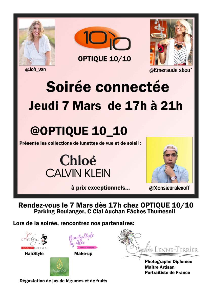 SOIREE CONNECTEE OPTIQUE 10/10 Fâches Thumesnil