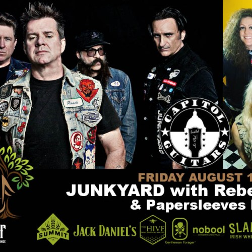 Hard Rock/Glam Metal legends, JUNKYARD performing at The Hook and Ladder, August 13!