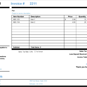 S06-Simple Invoice, Simple Invoice Excel (Landscape), Financial Management, Using your money wisely, simple invoice, simple invoice excel