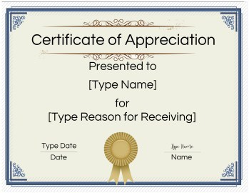 FREE Printable Certificate of Appreciation Template ...