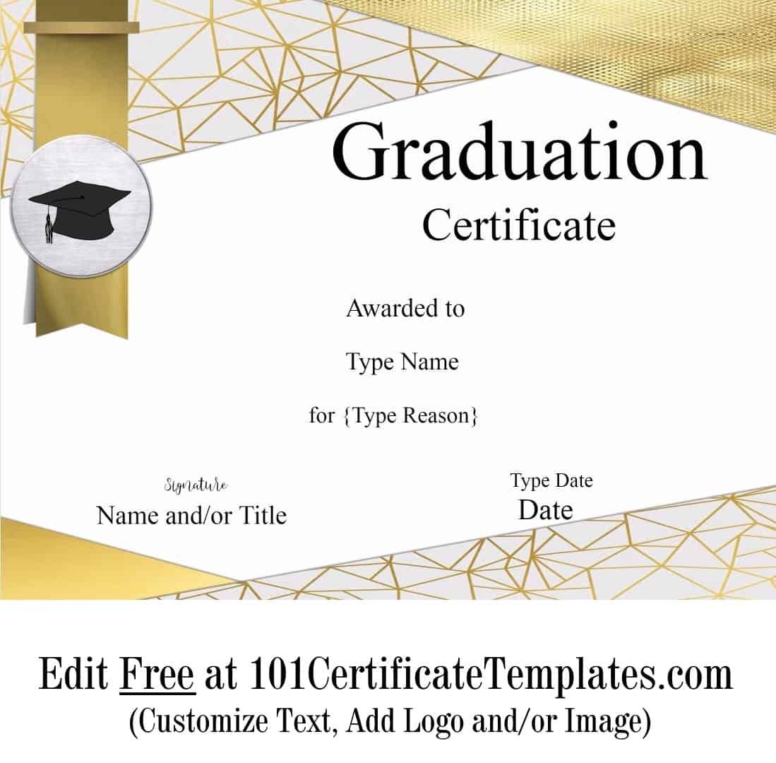 Free Graduation Certificate Template Customize Online Print