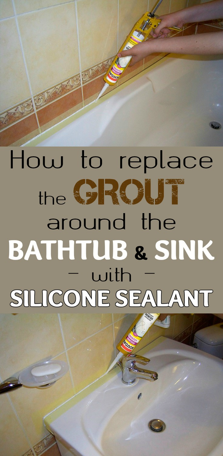 How To Replace The Grout Around The Bathtub And Sink With