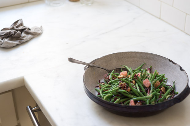 Green Beans with Pomelo
