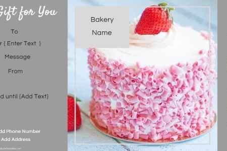 Gift Certificate Templates for a Bakery Free Custom Gift Certificates for a bakery