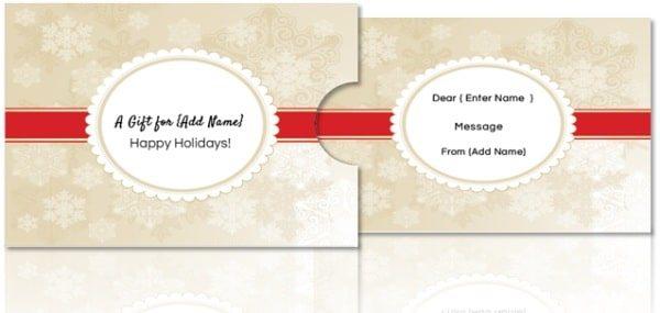 Free DIY Custom Gift Card Holders
