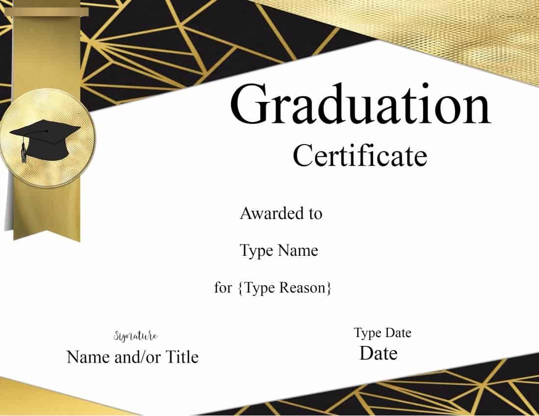 Graduation Certificate Template Customize Online Amp Print