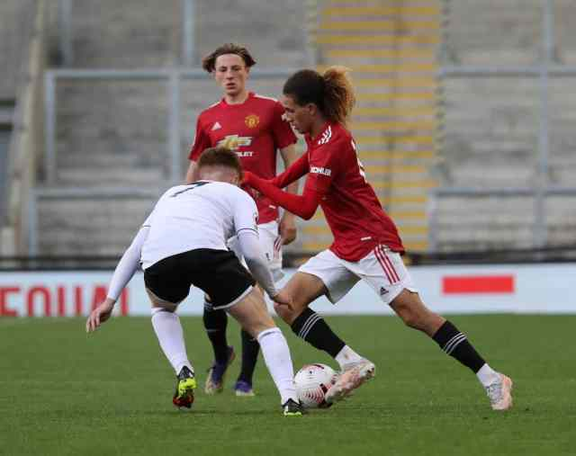 Hannibal Mejbri nets worldie before being petulantly sent off as Man United U23s slip to final day defeat