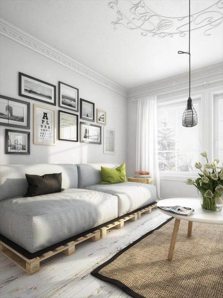 Top 104 Unique DIY Pallet Sofa Ideas - Page 9 of 15 - 101 ... on Pallet Room Ideas  id=17109