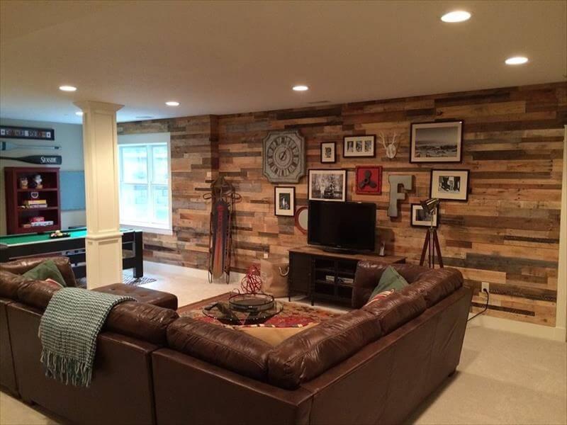 DIY Wood Pallet Wall Ideas and Paneling on Pallet Room Ideas  id=74951