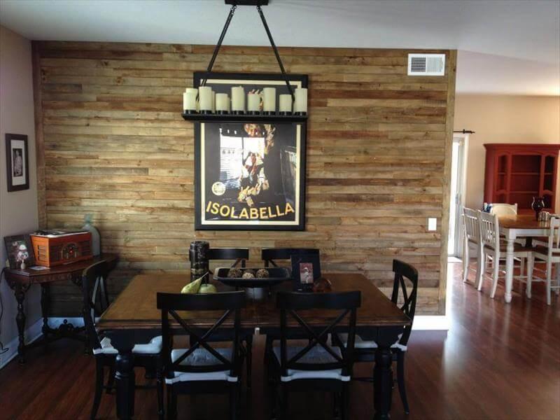 DIY Wood Pallet Wall Ideas and Paneling - 101 Pallet Ideas on Pallet Room Ideas  id=11165
