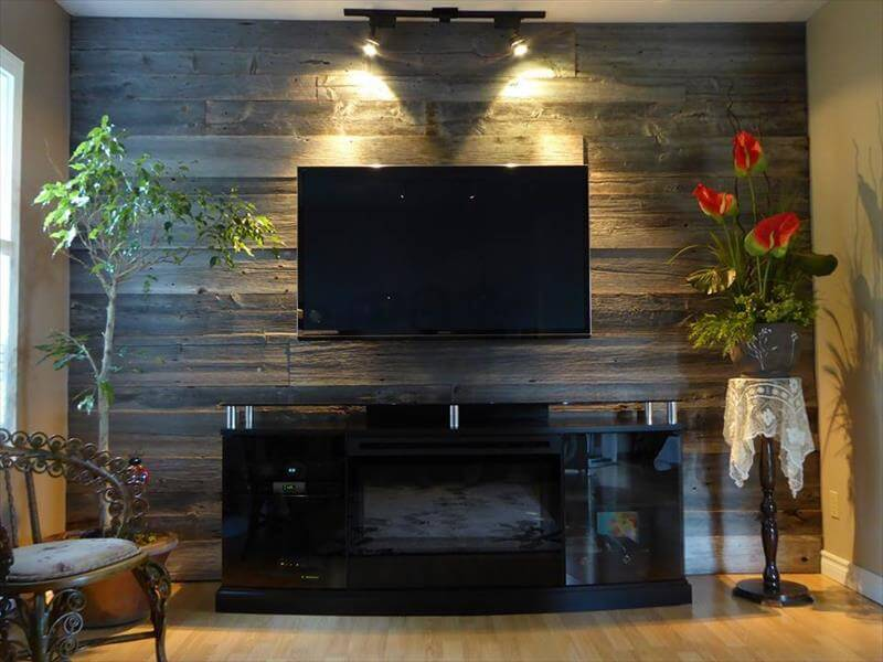 DIY Wood Pallet Wall Ideas and Paneling on Pallet Room  id=22706