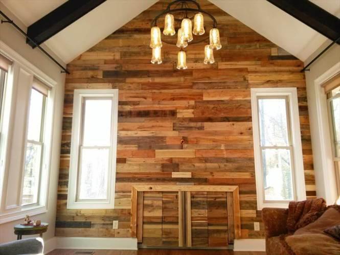Self Installed Pallet Interior Wooden Wall