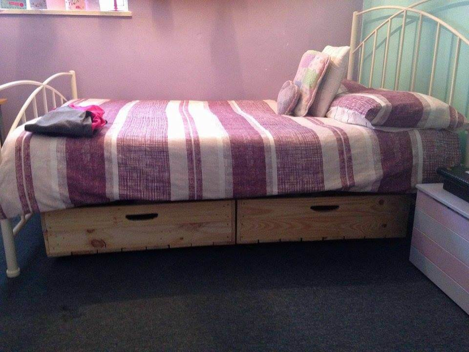 Diy Pallet Under Bed Drawers With Wheels