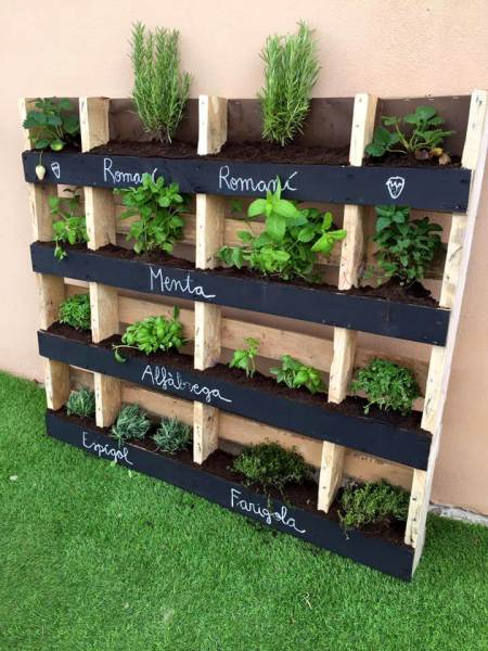 pallet vertical garden project 130+ Inspired Wood Pallet Projects