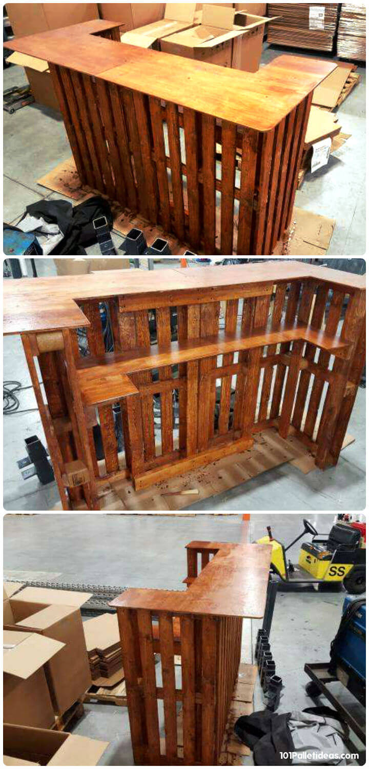 50+ Best-loved Pallet Bar Ideas & Projects on Pallet Design  id=43610