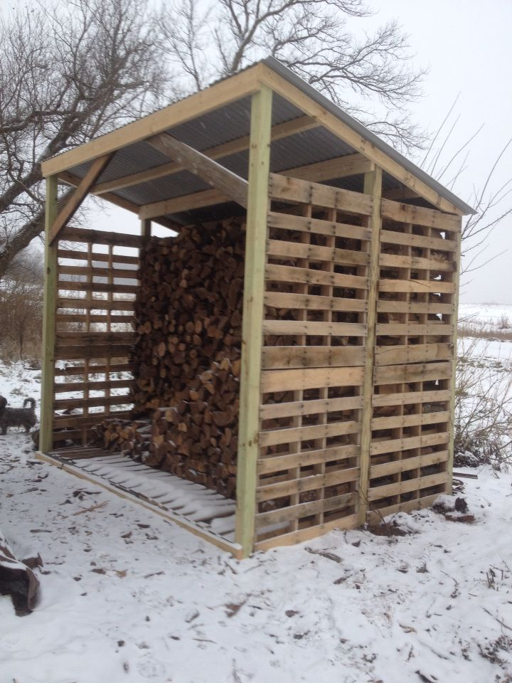 Firewood Shed Made of Pallets