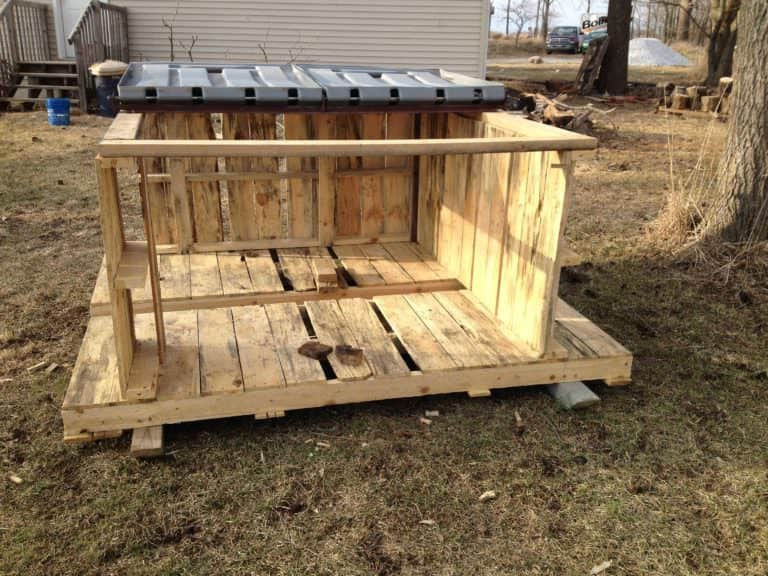 Staging Firewood Made from Upcycled Pallet Skids