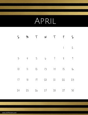 Free April 2020 Calendars 101 Different Designs And Borders