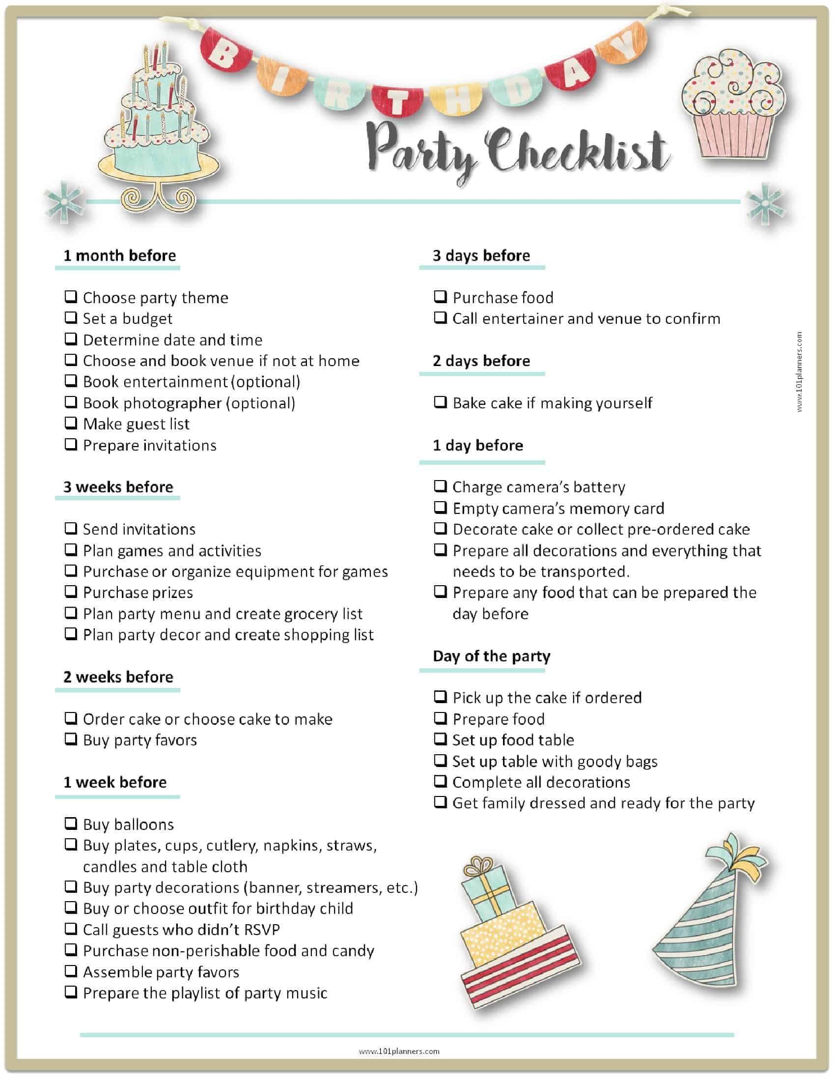 Party Planning Template