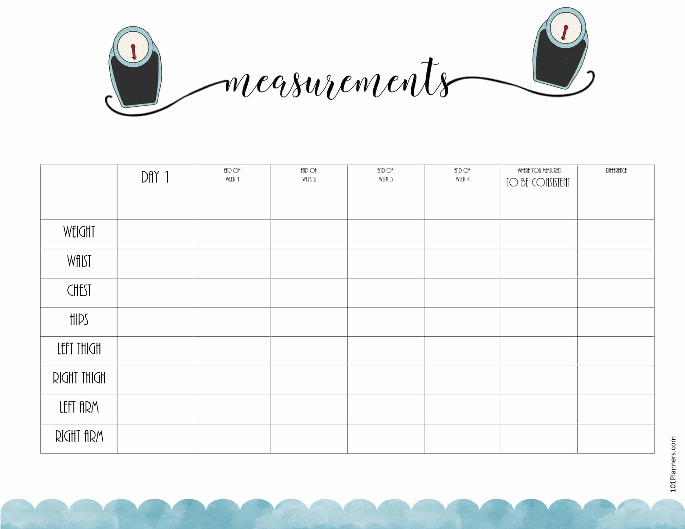 Free Fitness Planner Printable Book
