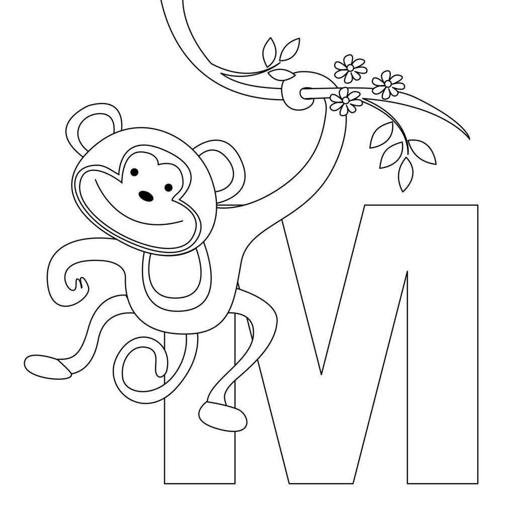 Coloring Pages Of Monkeys