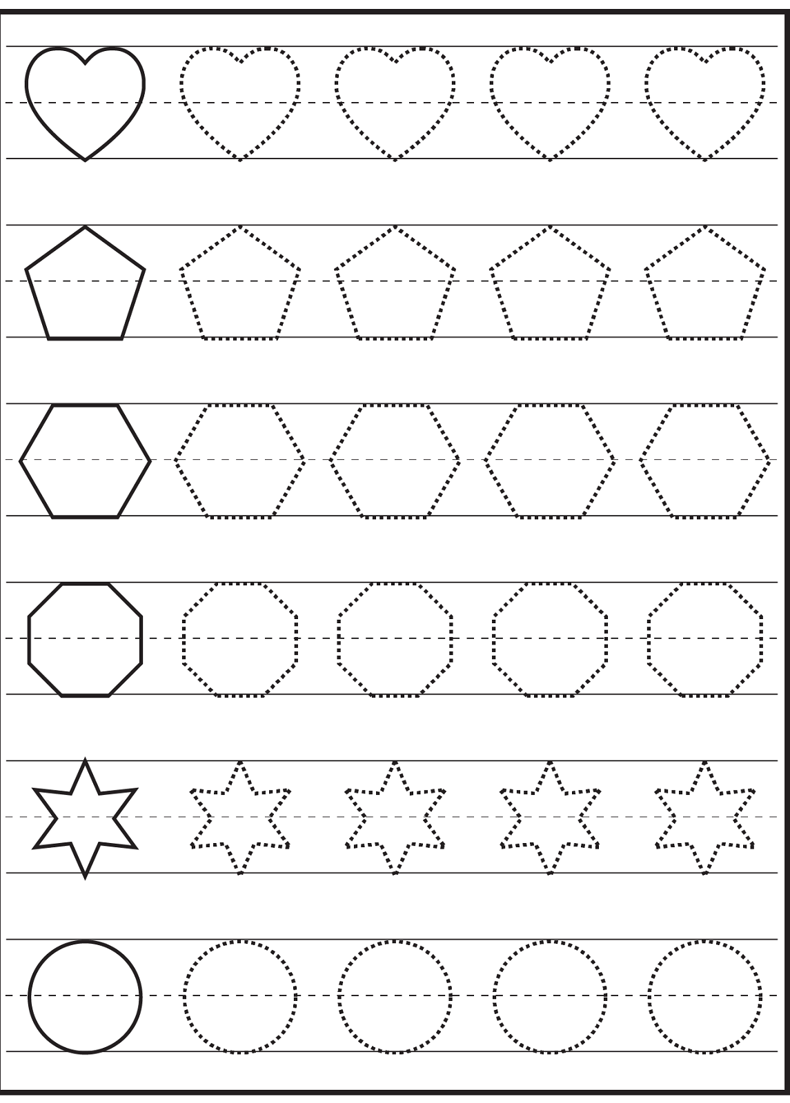 Free Traceable Worksheets