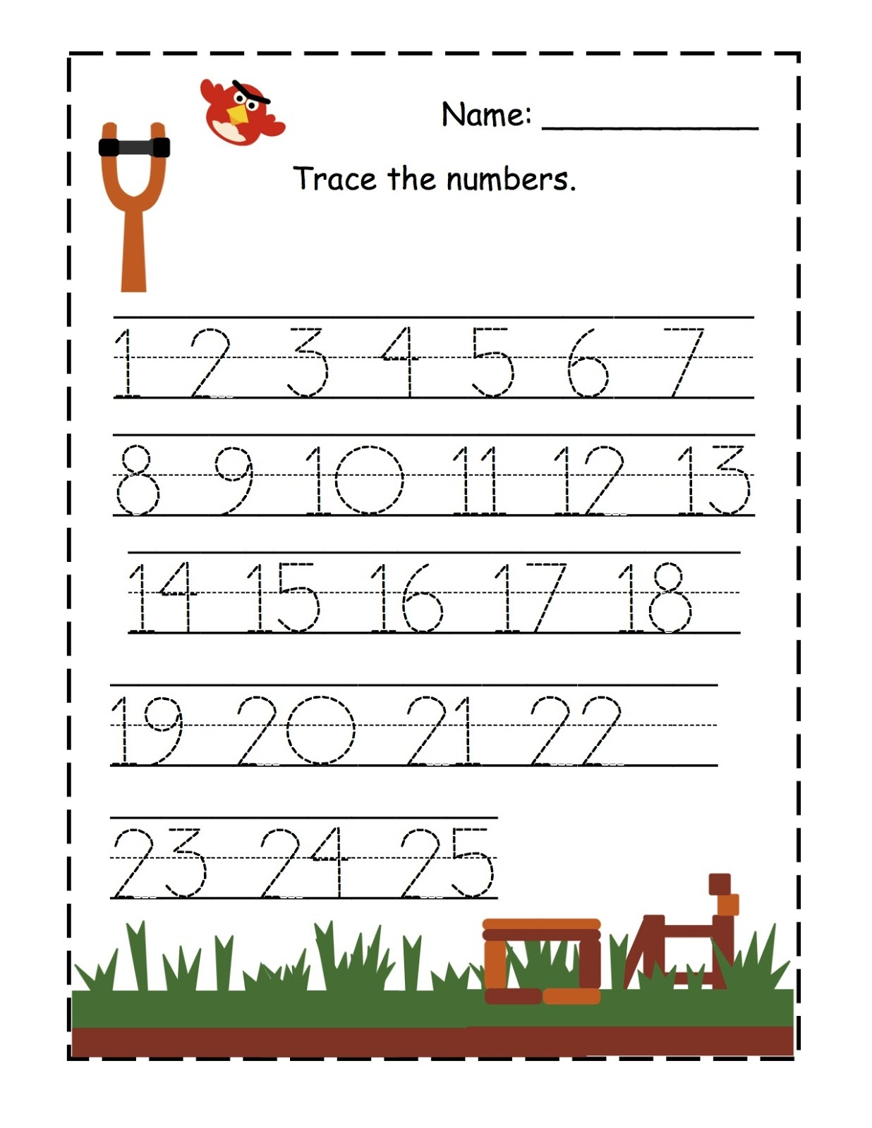 Trace The Numbers For The First Level