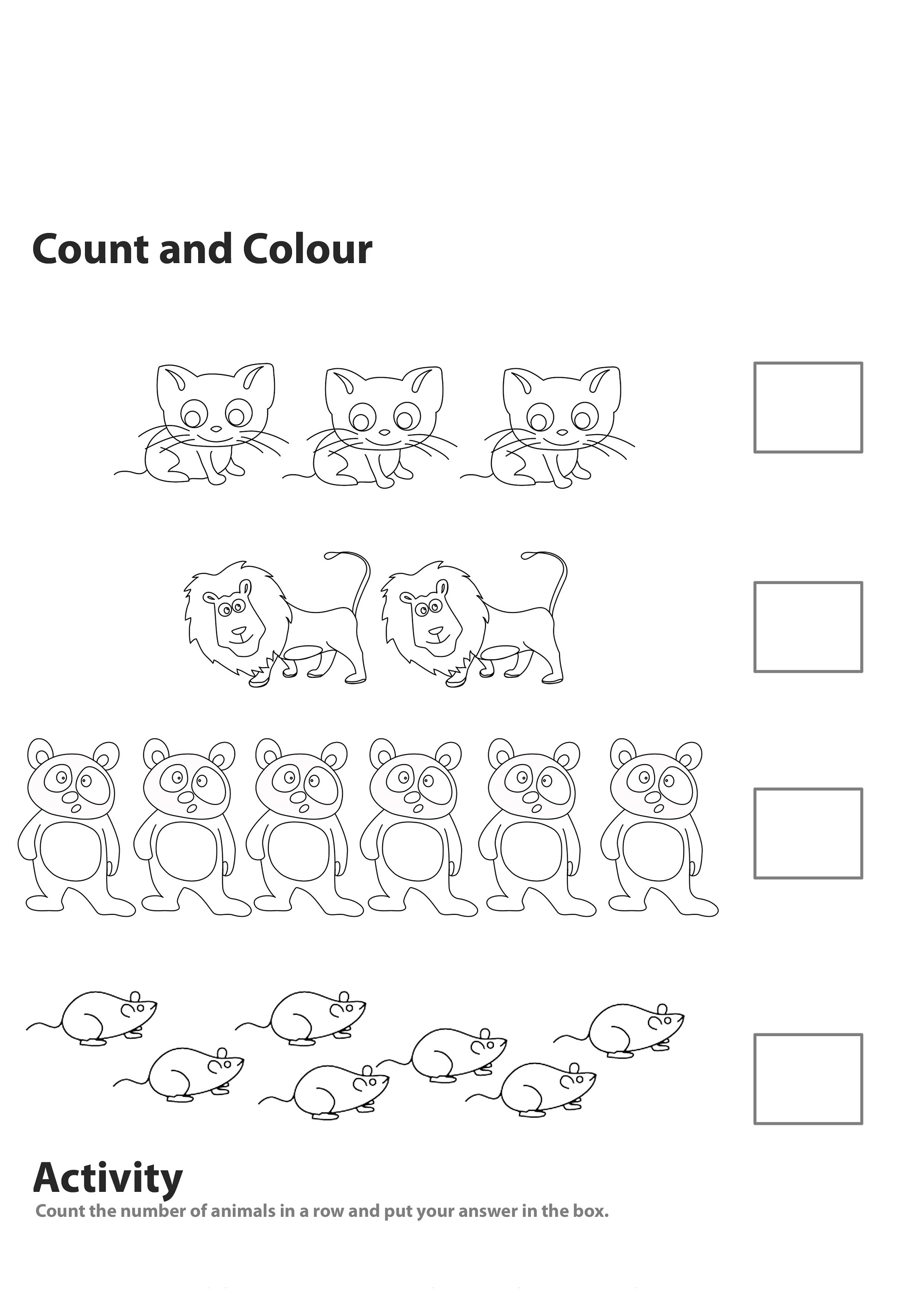 Worksheets For 5 Years Old Fun